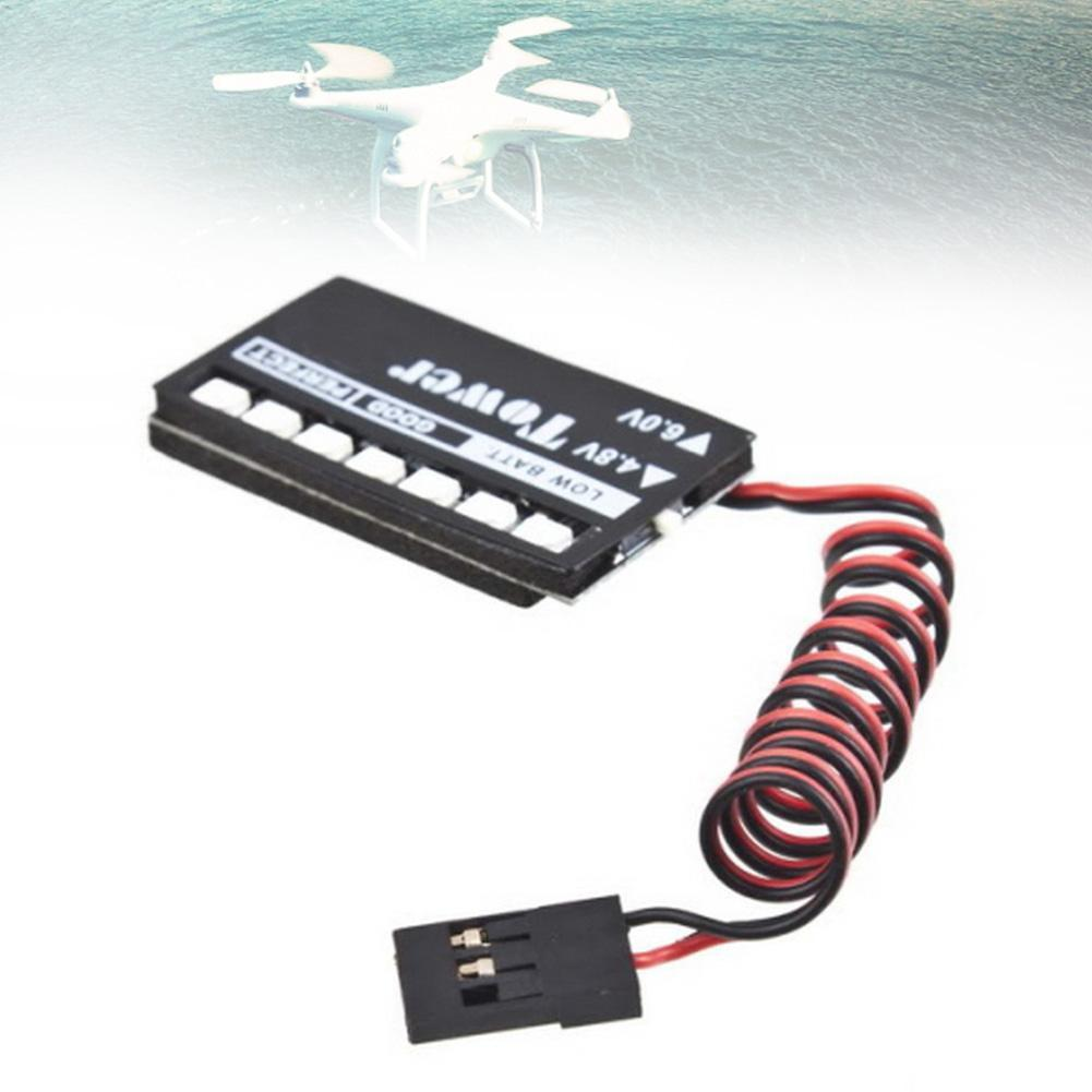 RC Model 7 LED Receiver Battery Low Voltage Indicator Monitor Car Auto 4.8/6V A676(China (Mainland))