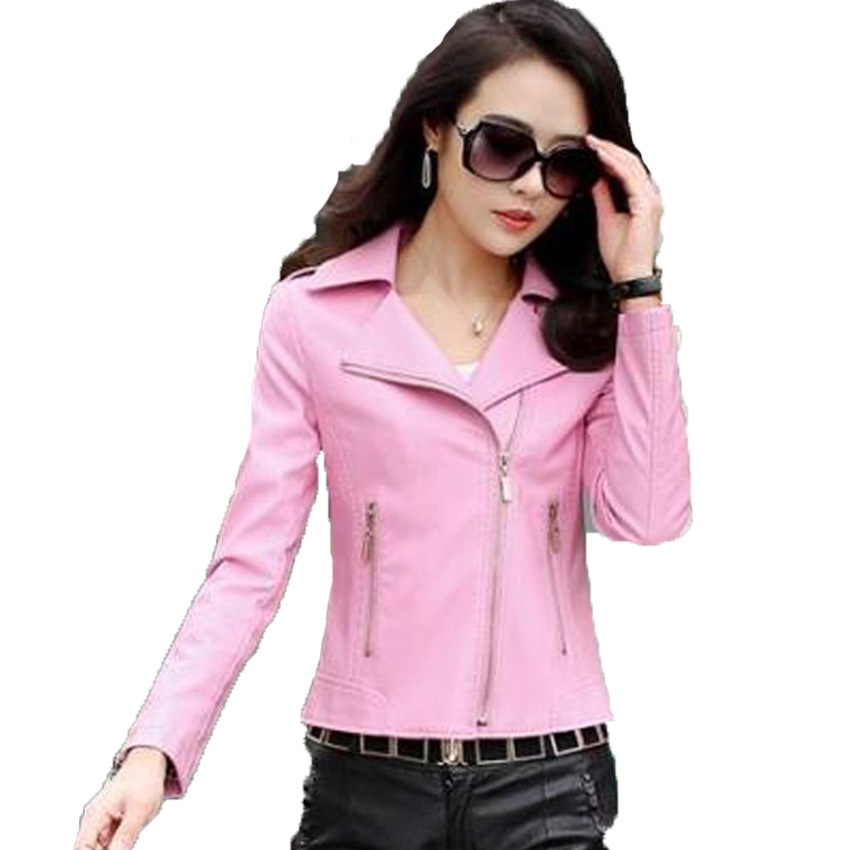 2016 New Women Leather Jackets Fashion Female slim Winter Motorcycle Coat free Shipping Haining Genuine Leather jacket 198(China (Mainland))