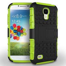 Горячая распродажа броня телефон чехол для samsung galaxy s4 i9500 анти-стук pc силиконовые смесь гибрид защитной оболочки покрытия
