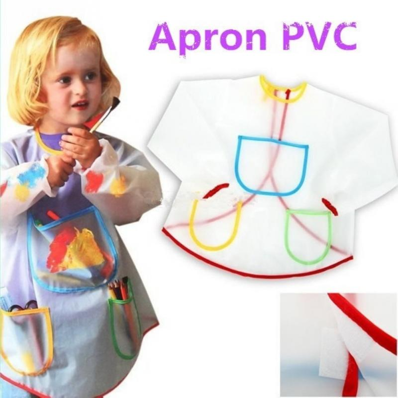 2016 High Quality Child Drawing Apron Good Gift For Children Painting 42x50x29cm(China (Mainland))