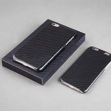 (10pcs/lot) Real Carbon Fiber Case Ultra Thin Mobile Phone Case Extra with 1pcs free screen protector