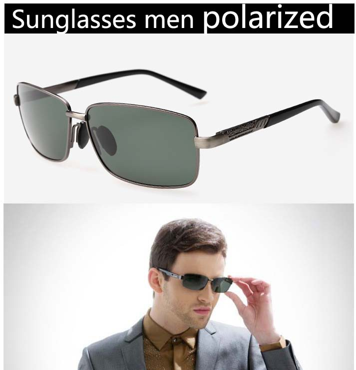 Polycarbonate lens to drive a car driver polarized sunglasses men driving,alloy UV400CE gentleman sunglasses men 2015 with box(China (Mainland))