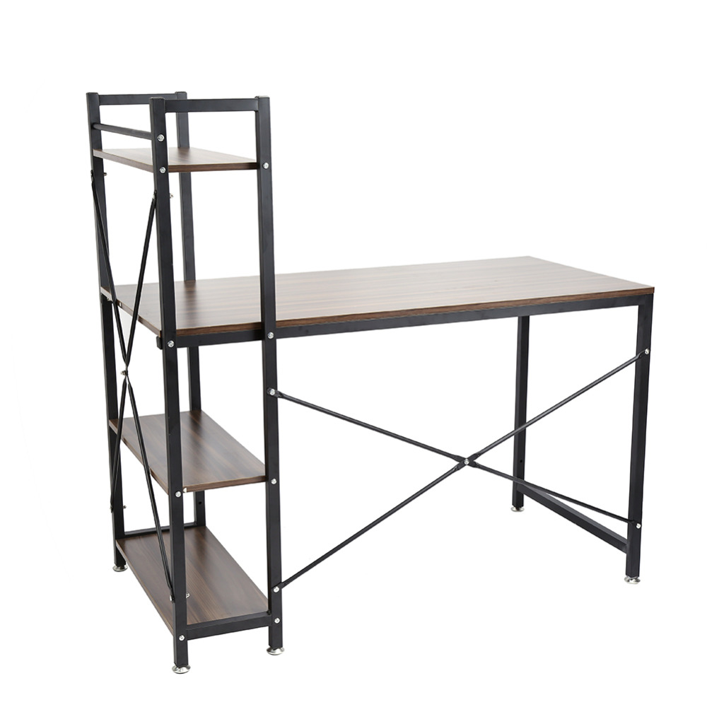 Functional Home Bookcase Shelf Stainless Steel Computer Desk PC Table 4 Tiers Bookcase Shelves(China (Mainland))