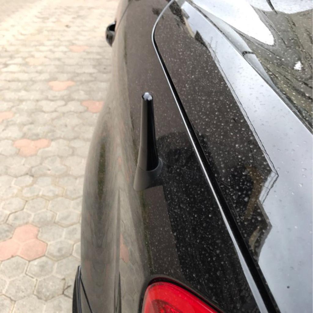 Car Auto Short Stubby Antenna Aerial AM//FM Radio Mast Black Fits for Benz