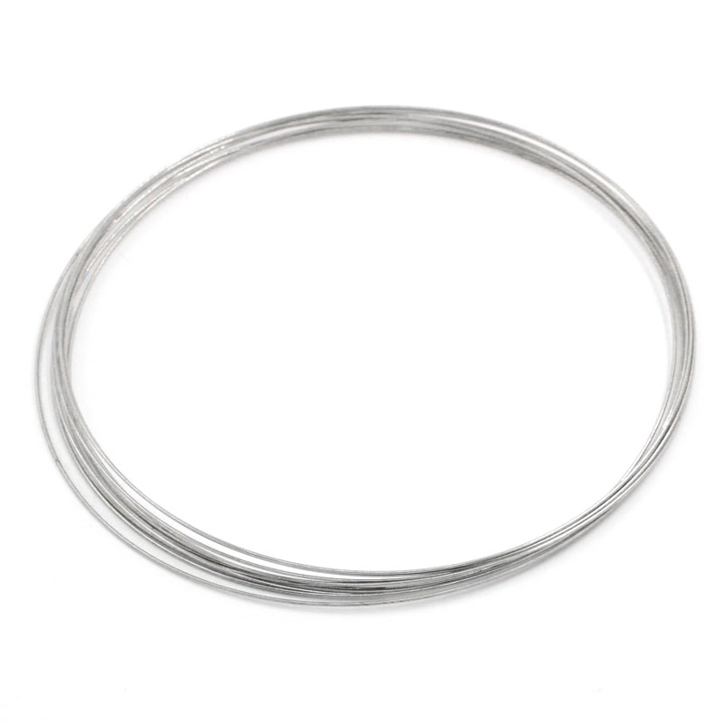 Charming 100 Best Quality Loops Memory Wire Necklace Craft Findings 115mm Dia.(China (Mainland))