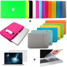 """Matte Hard case sleeve keyboard cover LCD FOR Macbook Pro Air Retina 11  12 13 15""""inch Notebook Bag(China (Mainland))"""