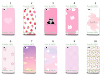 Mobile Phone Case Wholesale 10pcs/lot pink Design White Hard Back Case For IPHONE 5 5s Free Shipping