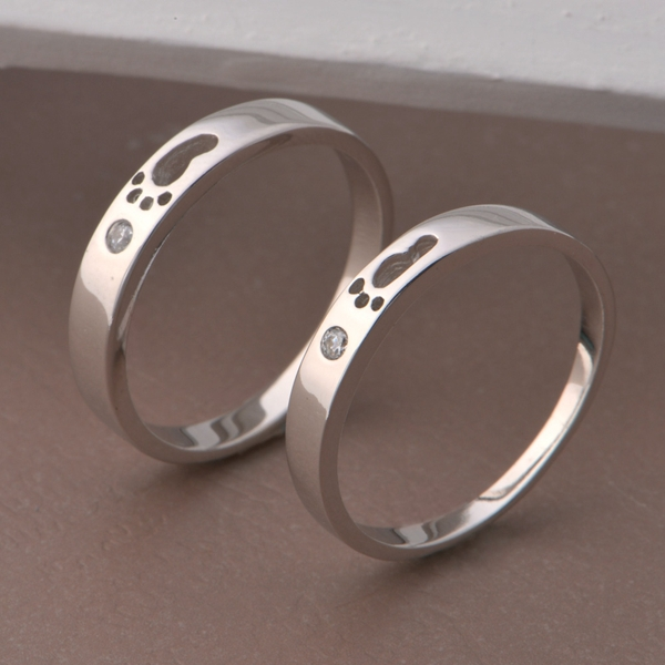 cute diamond rings for couple images