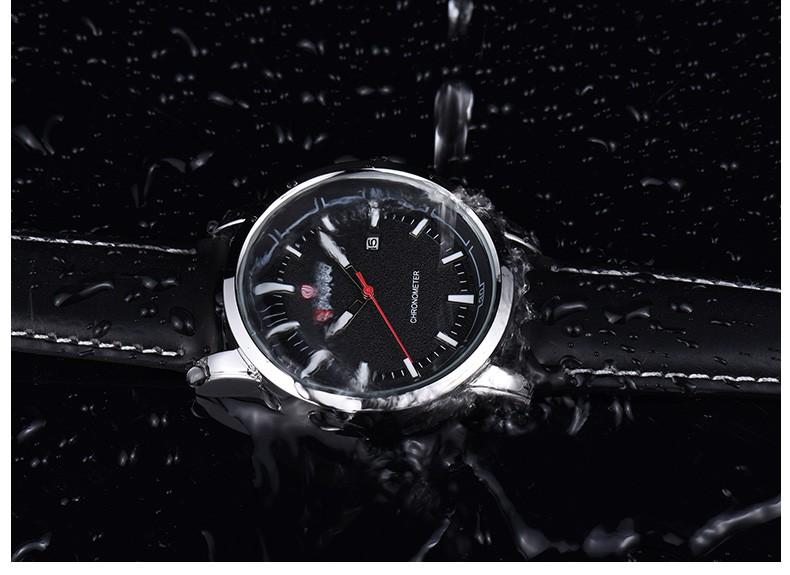 LONGBO Luxury Brand Мужчины Смотреть Военный Geniune Кожа Кварцевые Часы мужские Дата Календарь Спорт Наручные Часы Relogio мужской 80211