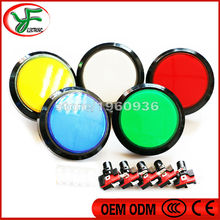 1pcs 100mm Illuminated Arcade Push Button Led 12v Power Button Switch Push Button with Microswitch(China (Mainland))