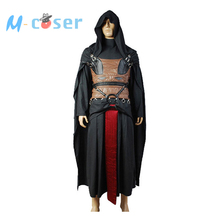 Star Wars Darth Revan Outfit Cape Robe Cloack Hoodie Black Version For Adult Men Haloween Cosplay Costume Free Shipping