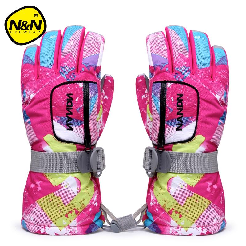 Nandn Children Parent Lover Gloves Motorcycle Snowboar Outdoor Ski Gloves Men Women Waterproof Windstopper Thickened Warm Gloves<br><br>Aliexpress