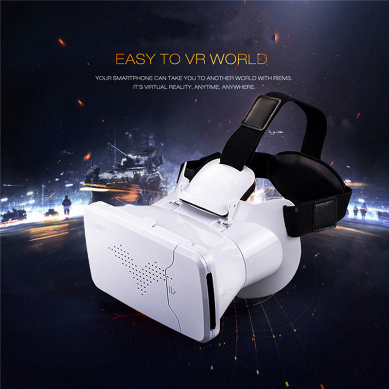 2016 Newest Virtual Reality VR Box Mobile Phone CD Glasses Cardboard Movie Game Vedio For Android / IOS 3.5-6 Inches Smart Phone<br><br>Aliexpress