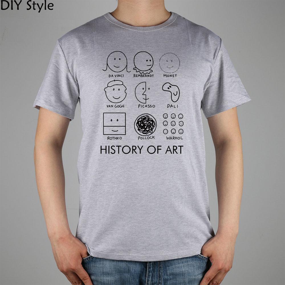 Shirt design history - Picasso Monet Da Vinci Art History T Shirt Cotton Lycra Top 11073 Fashion
