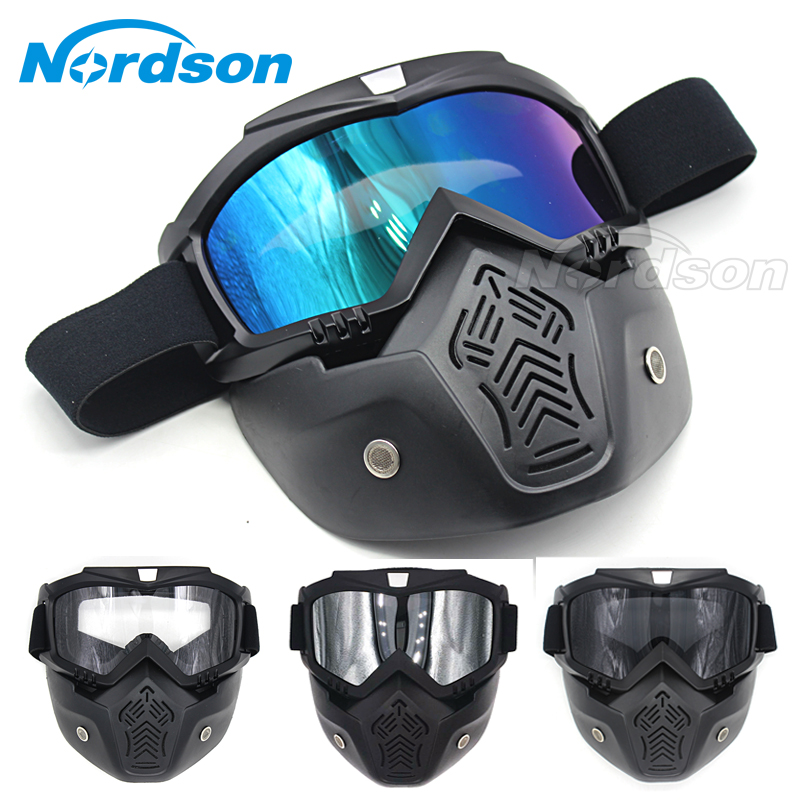 Motocross Goggles Motorcycle Glasses Face Dust Mask And Mouth Filter For Motor Oculos Windproof off Road Helmets Mask Goggles(China (Mainland))