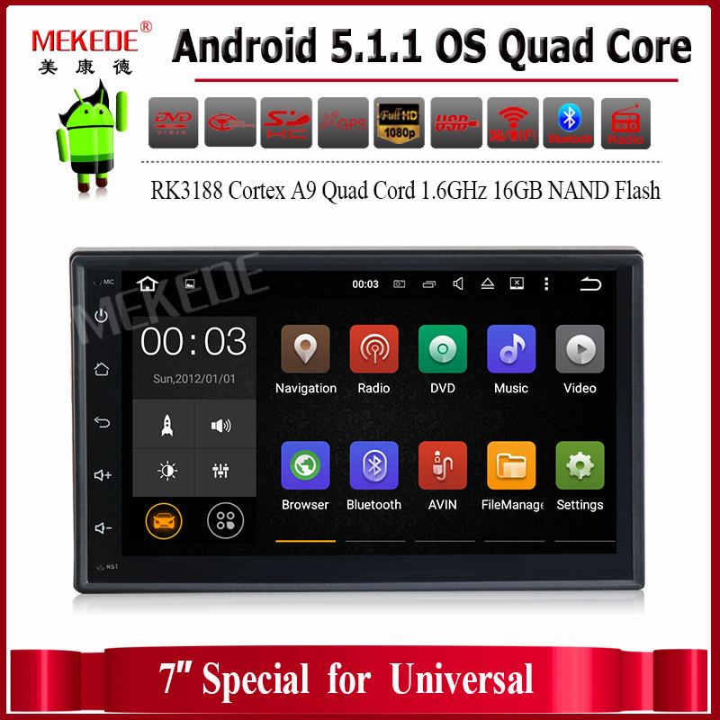 Free shipping built-in map software 2 din Universal 7 inch full touch screen with support radio Ipod Bluetooth mirror link(China (Mainland))