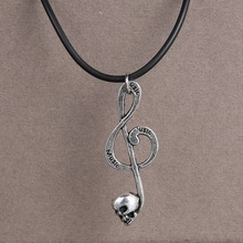 2014 new fashion jewelry necklaces handmade music pendant vintage choker necklaces for women men jewelry