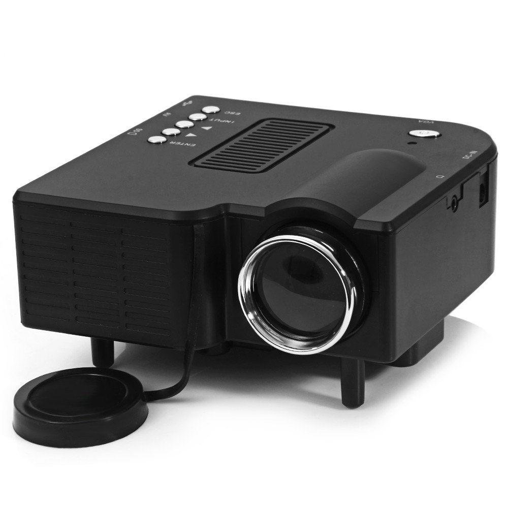 UC-40 High Definition Protable Video Mini Projector 400 Lumens LED Home Projector Support AV/SD/VGA/HDMI US PLUG Two Colors(China (Mainland))