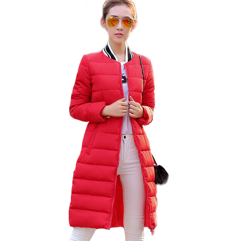 2016 New Fashion Long Women Baseball Jacket Winter Warm Cotton-padded Outerwear Female Women Coat WY487