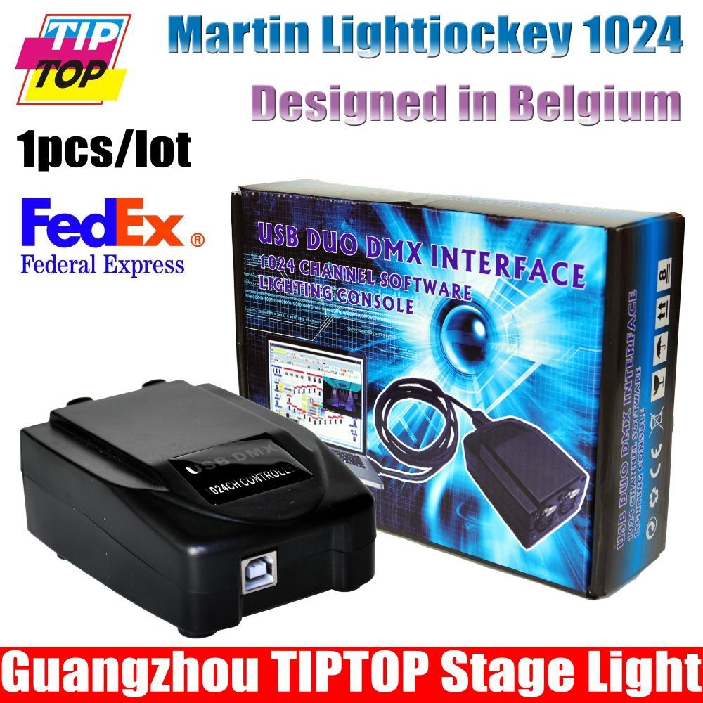 Freeshipping Martin Light jockey USB 1024 DMX 512 DJ Controller,Martin lightjockey 3 Pin 1024 USB DMX Controller led stage light(China (Mainland))