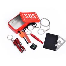 Portable Emergency Outdoor Equipment Emergency Bag Survival Kit Box Self-help Box SOS Equipment For Camping Hiking(China (Mainland))