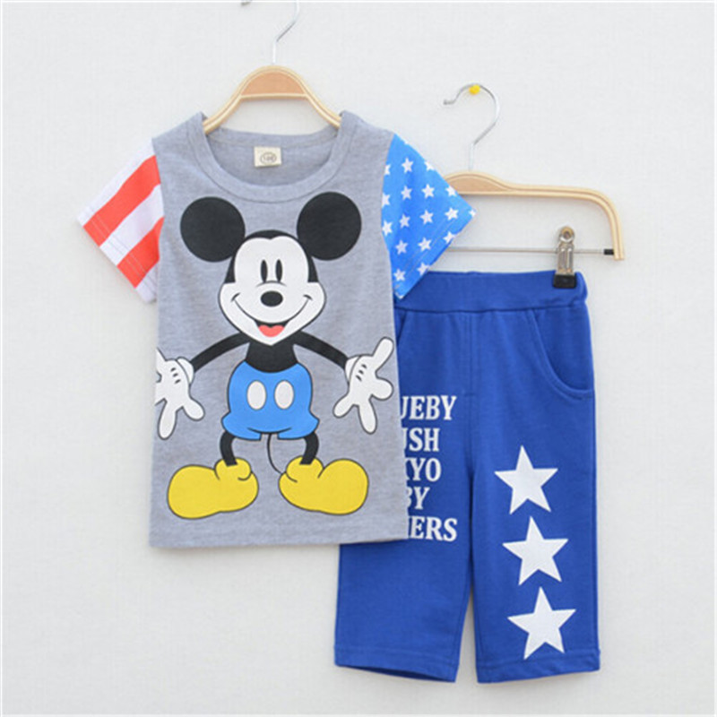 2015 New baby boys clothing set children summer clothes kids short shirt + pants sets babi boy suit - Little Angels children's store