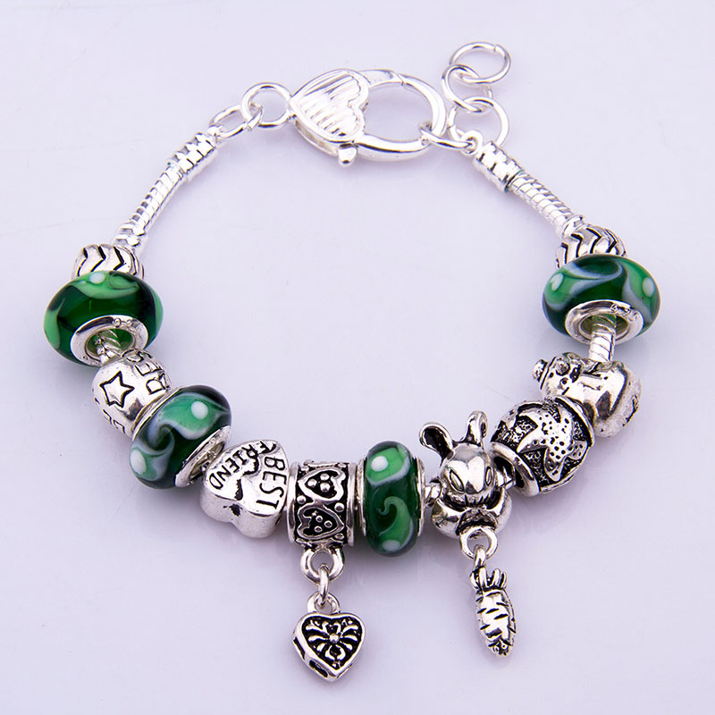 asian european 925 silver charm bracelet for with