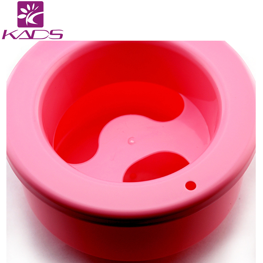 KADS 1PC Two Color(Red&Blue)Nail Art Tray Soak Soaker Gel Acrylic Polish Remover Manicure Round Bowl Tool(China (Mainland))