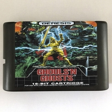 Sega MD Game Cartridge –  Ghouls'n Ghosts USA/EUR Case for 16 bits Sega Genesis Megadrive Console System