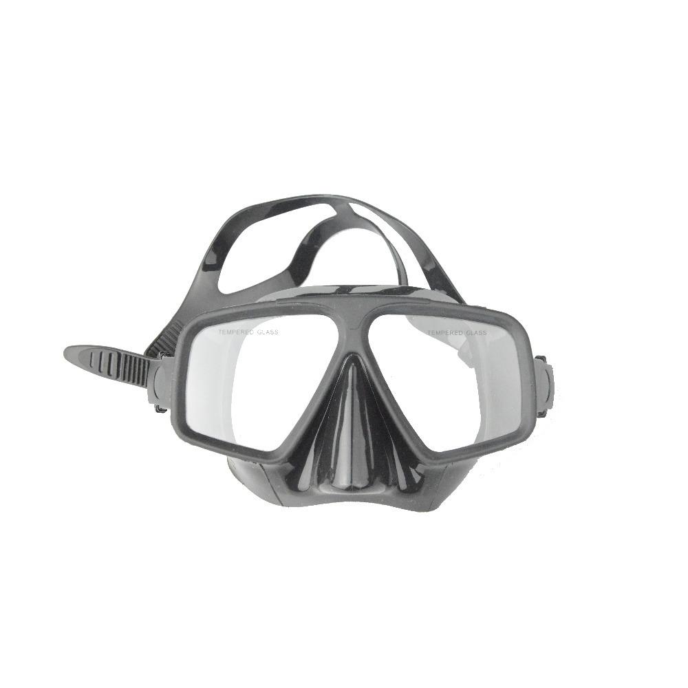 Leeya Brand double lens spearfishing black UNISEX snorkeling equipment scuba liquid silicone diving mask(China (Mainland))