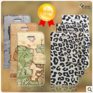 For apple for iphone for 5 phone case map holsteins flip protective case for apple 5 mobile phone case shell
