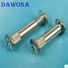 Furniture connecting screws nickel cabinet hardware accessories Wafer splint splint nut screw M4X30(China (Mainland))