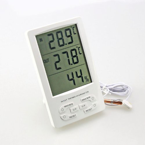 Indoor / Outdoor Large LED Display Digital Hygro- Thermometer With MIn/ Max And Clock(China (Mainland))