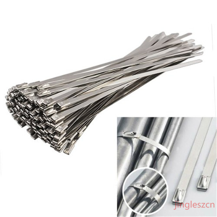 Cable Tie Wraps : Pcs mmx mm best grade stainless steel zip