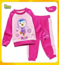 2013 New Arrival Fashion Pajamas Little Girl And Boy Long Sleeve Blue Cotton Homewear Infant Clothing  Free Shipping H121228-33(China (Mainland))