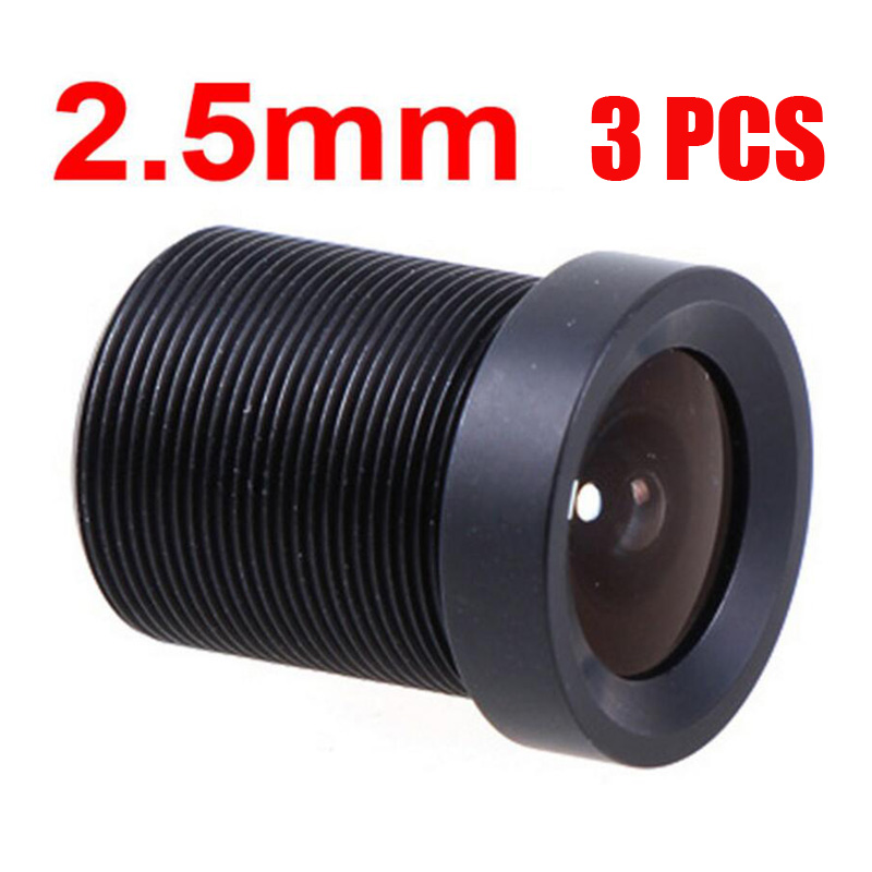 (3 pieces/lot) CCTV 2.5mm Security Lens 130 Degree Wide Angle CCTV Lens Fixed CCTV IR Board Security Lens Camera M12x 0.5(China (Mainland))