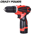 CRAZY POWER 16 8V Electric Drill Cordless Screwdriver Rechargeable Battery EU Plug Electric Screwdriver Parafusadeira Furadeira