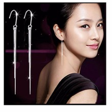 E920 New Girl 2016 Brincos Silver Plated Earing Boucle Bijoux 3 Tassels Long Earrings For Women Wedding Jewelry Earings Gift(China (Mainland))