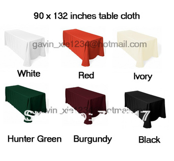 Free Shipping hot selling polyester 90*132 in table cloth
