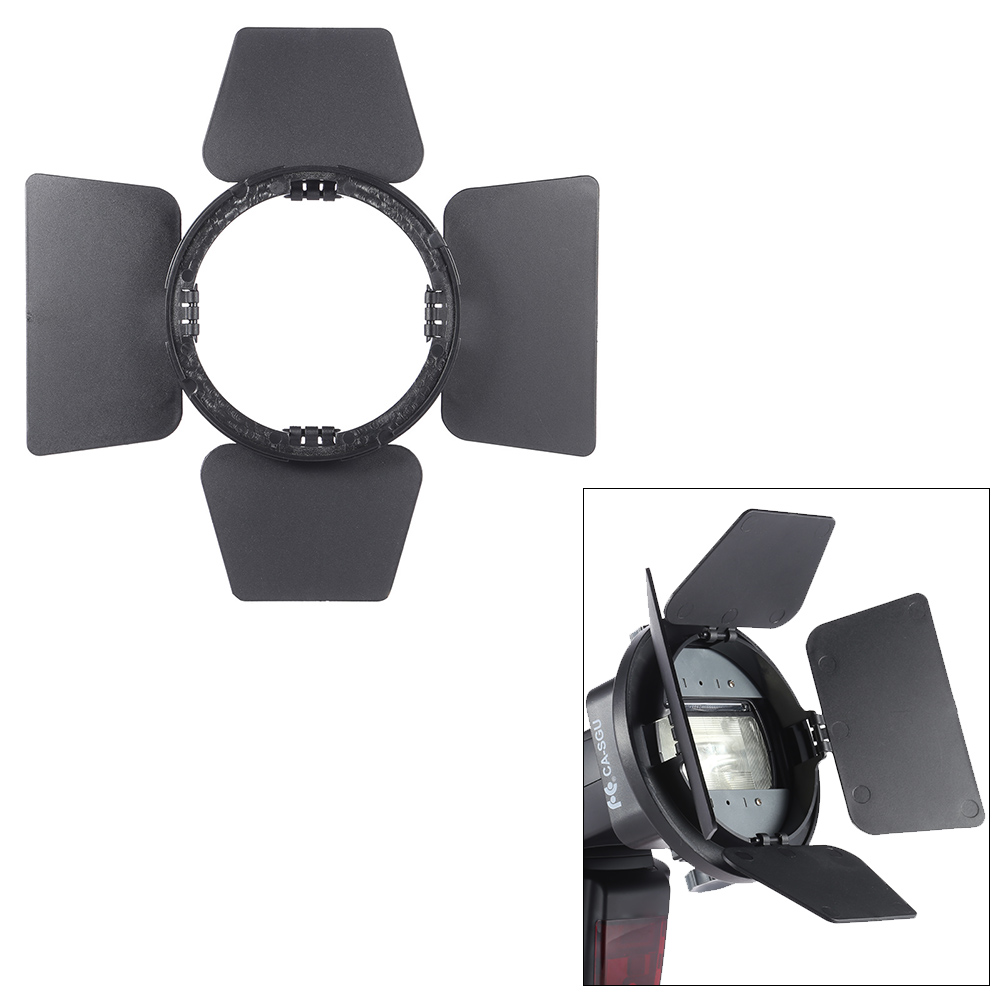 SGA-BD4 Four-leaf Speedlite Flash Light Photography Barndoor Accessory for Nikon Canon etc Speedlight Universal Mount(China (Mainland))