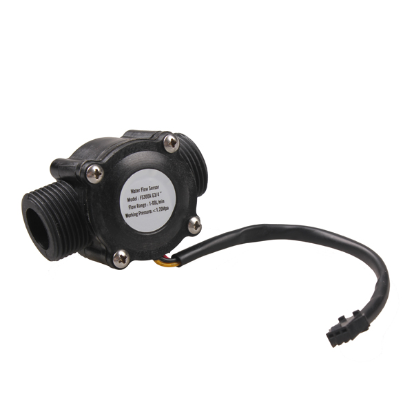 Гаджет  G3/4 Water Flow Sensor Switch Hall Effect Flow Meter Counter 1-60L/min   None Электронные компоненты и материалы