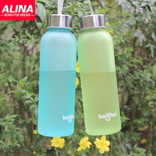 Creative Exclusive New Soda Cottle Plastic Cup Leak-proof Seal PC Bpa Free Sports Water Bottles With Frosted Paragraph Tisheng(China (Mainland))