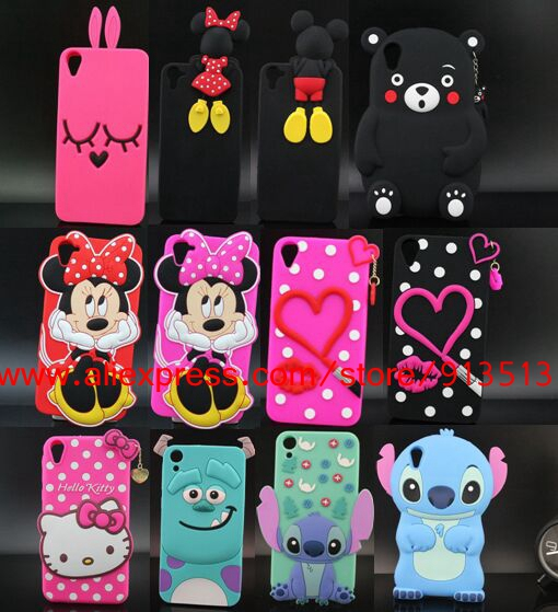 For HTC Desire 820 Case 3D Sulley Tiger Cheshire Cat Stitch Mickey Minnie Lip Hello Kitty Silicone Phone Cases Cover For HTC 820(China (Mainland))