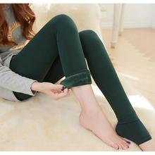 Nov18 Amazing Lady Winter Warm Legging Thickened Winter Super Elastic Fleece Women Leggings Solid Color(China (Mainland))