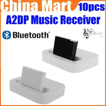 Wireless Bluetooth A2DP Music Audio Receiver Adapter for iPhone iPod 30-Pin Dock Speaker Express 10pcs/lot