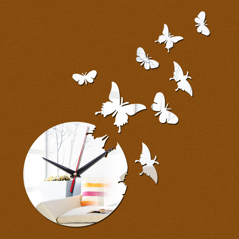 2015 venda oferta especial parede espelho acrílico relógio de quartzo relógio crianças novidade decoração de casa moderna diy relógios frete grátis