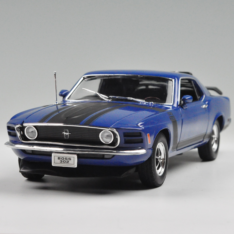 WELLY 1/18 Scale USA 1970 Ford Mustang Boss 302 Diecast Metal Car Model Toy New In Box For Collection/Gift/Kids/Decoration(China (Mainland))