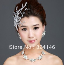 Cheap!! 100% real picture Luxurious bridal jewelry sets bride rhinestone necklace wedding accessory(China (Mainland))