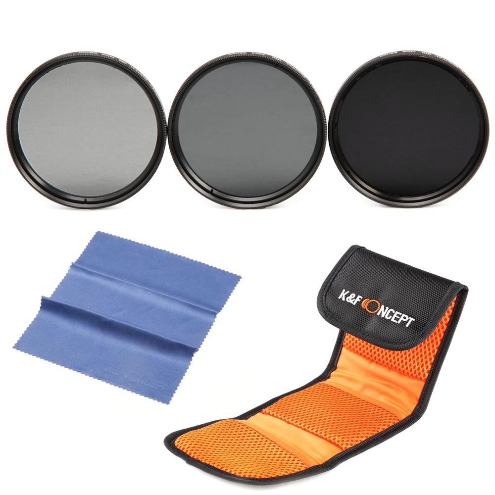 ND2 ND4 ND8 52mm Lens filter kit for Nikon D7100 D7000 D5200 D5000 D3100 D3000(China (Mainland))