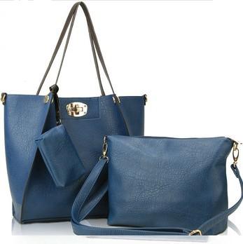 Free Shipping 2013 Fashion Women's Leather Handbags Messenger Shoulder Bags PU Designer Handbags Tote High Quality Lock Wallets(China (Mainland))